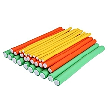 30-Pack Flexible Curling Rods DIY Hair Curlers Tool Styling Kit Hair Roller Set - Random Color