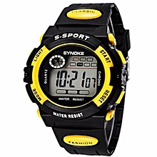 Fashion Famous Sport LED Digital Watches Top Brand Men Wrist Watch Male Electronic Clock Digital-watch(Yellow)