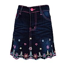 Dark Blue 2 In 1 Girls Jeans