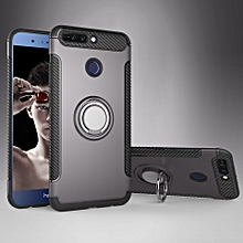 KZ Slim Fit Hybrid Dual Layer Armor Shock Absorption Rugged Defender with Ring Holder Kickstand Drop Protection Soft Rubber Bumper Case Cover for Huawei Honor V9 / Honor 8 Pro XBQ-A