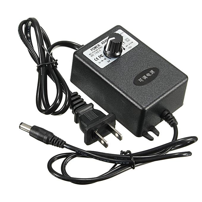 Universal Adjustable Acdc Adapter 3 12v 2a Power Supply Motor Speed