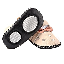 bluerdream-Newborn Baby Kid Love Embroidered Shoes Bowknot Toddler Soft Sole Shoes GY 11- Gray
