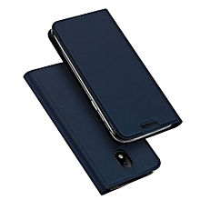Samsung Galaxy J7 Pro 2017/J730 2017 Leather Case With Stand Function And Card Slot - Blue
