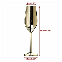 Champagne Glasses Set Of 2 Brushed Gold – Shatterproof Stainless