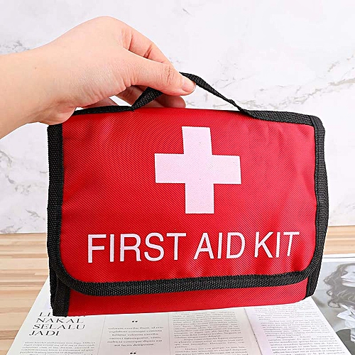 Handle Folding Outdoor First Aid Kit Medical Kit Set Earthquake Emergency  Kit Treatment Pack Outdoor Wilderness Survival(#RD)