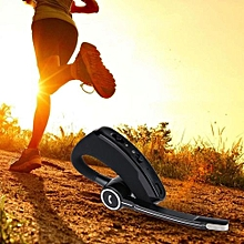 V8S wireless bluetooth headphone Handsfree business headset earphone with mic voice control for sports noise canceling