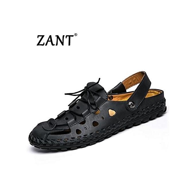 683ebe6ca3f Summer Sandals Men Fashion Designers Beach Shoes Brand Leather Slippers For  Men Lelaki Sandal Fesyen-