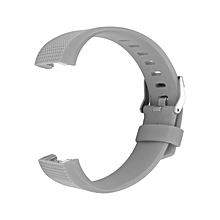 Replacement Silicone Rubber Band Strap Wristband Bracelet Waterproof Durable gray