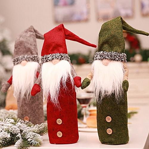 Buy Allwin Christmas Wine Bottle Decor Xmas Faceless Doll Bottle