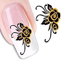 Fancyqube Nail Stickers Watermark Artificial Flowers Flower Row Of Pens  Nail Art Nail Artificial Tools Stickers