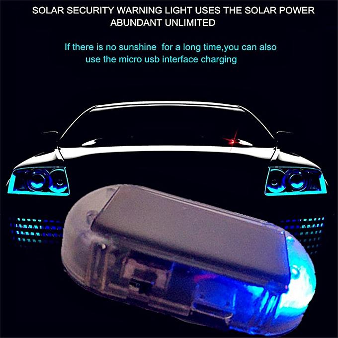 Car Alarm LED Light Security System Warning Theft Flash Blinking Fake Solar  Car Alarm LED Light Anti-Theft LED Light JOHN