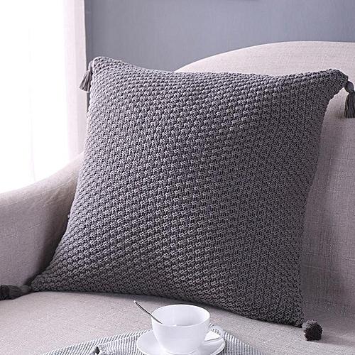 45x45cm Cotton Tassel Cushion Cover Sofa Car Seat Back Case Pillowcases Home Bedroom Decoration Textiles