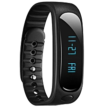 Waterproof Fashion Bluetooth Smart Activity Tracker Bracelet E02 For IPhone Android  (Color:Black)