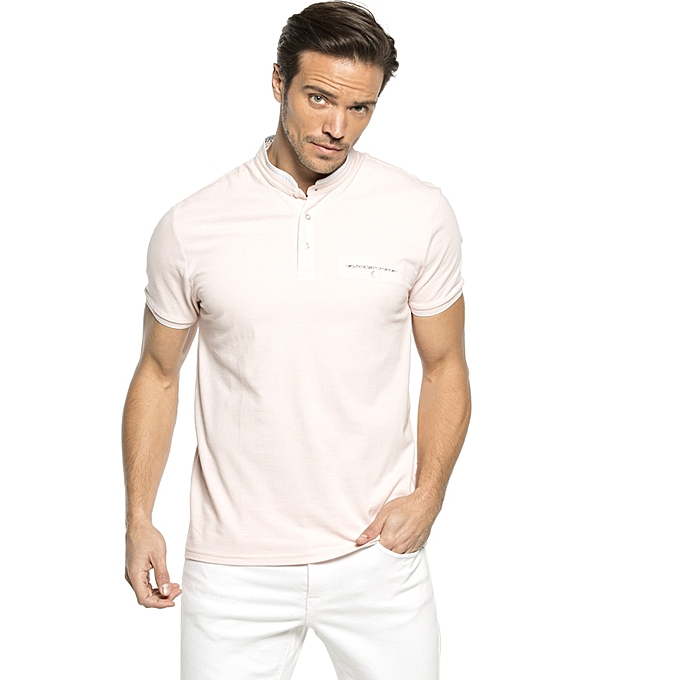 Pink Fashionable Skinny T-Shirt