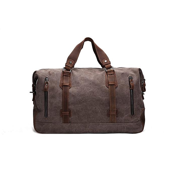 ca8b48a9eff9 Fashion BLUESEBE HANDMADE WAXED CANVAS TRAVEL DUFFLE BAG AF11   Best ...