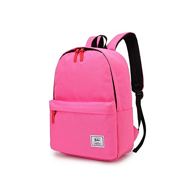 lowest price 1f1f2 53314 Campus Wind Backpack Solid Color College High School Student Bag Travel  Backpack-Pink