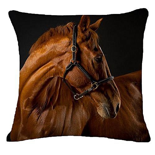 Generic Fantynes Householding Creative Pillow Fashion Cartoon Animal Horse Home Decor Cotton Linen Cushion As Picture
