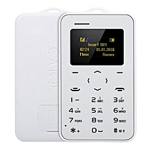 AIEK C6 Ultra Thin Mini Bluetooth GSM Candy Color Credit Card Mobile Phone White