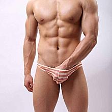 Men's Underwear Intimates  Sexy Mens Underwear Transparent Shorts Briefs Pants Underpants Stripe XXL@条纹 Stripe