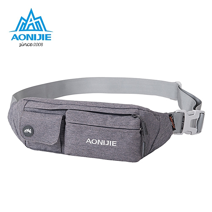 ec0418072e28a6 Generic AONIJIE E7092 Jogging Waist Bag Fanny Pack Travel Pocket Key Wallet  Pouch Cell Phone Holder Chest Cross-body Bag Running Belt(Gray.)