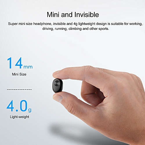 84a7f346227 Generic Wireless Bluetooth 4.2 Headphones Mini Invisible Earphone In-ear  Stereo Music Headset Earpiece Charging Box Hands-free w/ Microphone