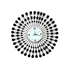 Decorative - artistic wall clock - Analogue- Black