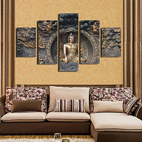 Generic Framed Home Decor Canvas Print Painting Wall Art Buddha