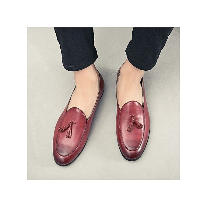 Buy Tauntte Men Shoes Tassel Genuine Leather Loafers Trends