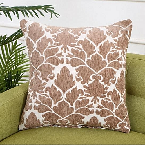 Cushion Cover-Brown and White-45*45cm