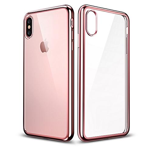 huge discount f4a49 0a5e4 ESR Essential Twinkler Series Ultra-thin Transparent Soft TPU Case for  iPhone X / XS (Rose Gold)