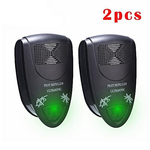 2pcs Pest Control Ultrasonic Pest Repeller Electronic Pest Repeller Plug  Mice Pest Reject Insect Killer Rat Mouse Repellent LALANO