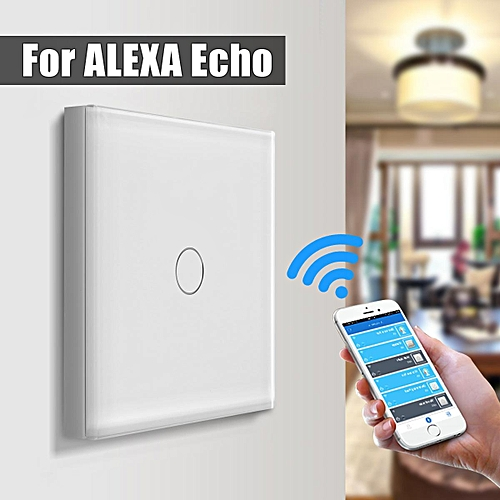 Smart Wifi Light Touch/Remote Control Wall Switch Panel For Amazon Alexa  Echo EU Plug