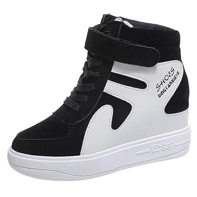 d8283b14fb82 Xiuxingzi Increased Casual Single Shoes Flat With Waterproof Color Matching Women s  Shoes