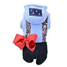 Four Feet Elastic Pet Suspender Hoodie For Pet Dogs With Big Bow Decoration