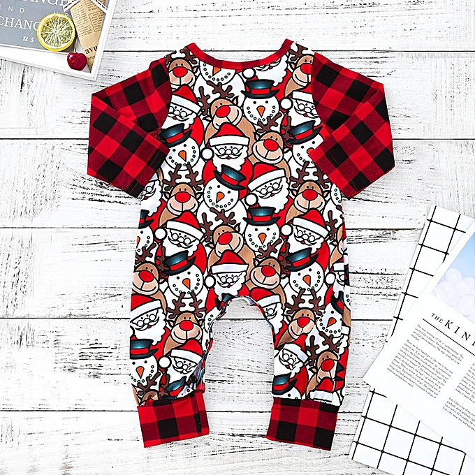d6979a9a37ce Fashion Baby Christmas Outfits Newborn Baby Boys Girls Rompers ...