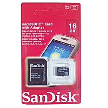 SDHC Memory Card- 16GB