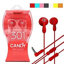 RM-301 Candy Colorful Dynamic Driver HIFI Earphone Headphone BK