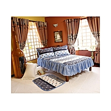 4pcs - Quilted Bed Cover Set - 4 X 6  - Blue