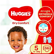 Dry Comfort Diapers, Size 5 (12-22kgs) ,56 Count