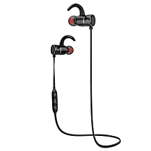 AK7 Magnetic Bluetooth Earphones IPX4 Waterproof Wireless Headset - Black