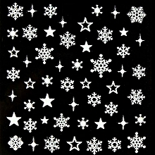 3D Nail Art Stickers Decals Decoration Snowflake Star Design SN-111