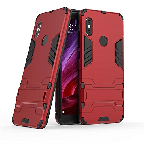 For Xiaomi Redmi Note 5 Case Hard Silicone Iron Man Armor Cover For Redmi Note 5 Full Protect Handphone Casing 669648 Red