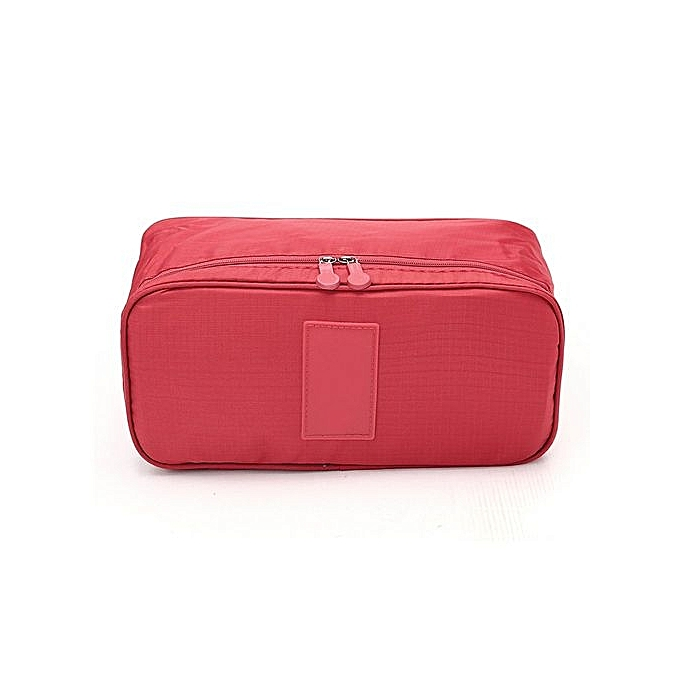 1e2bdb1b530a Women Multifunction Travel Cosmetic Bag Makeup Pouch Bra Underwear Storage  Case Red