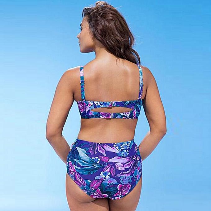 a87463f413 ... Tectores Plus Size SWomens Swimming Padded Swimsuit Monokini Swimwear  Push Up Bikini ...