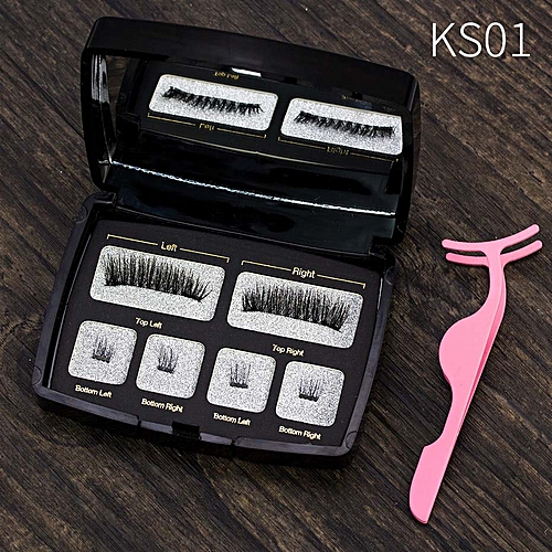 9992493153d Generic Magnetic eyelashes 4 part magnets handmade 3D/6D magnet lashes  natural false eyecomfortable with Gift Box SCT04-1(SCT04)