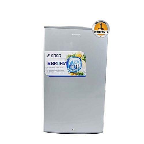 BRS 95x - Single Door Refrigerator - 4Cu.Ft - 95 Litres - Silver