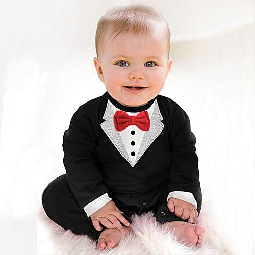ec0c0a5edae94 Generic Fashion Child Suits Cotton Jumpsuit Rompers Newborn Baby Boy Clothes  Crawling Clothes