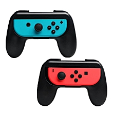 LEBAIQI 2pcs ABS Gamepad Grip Handle Stand Holder for Nintend Switch Left Right Joy-Con Joycon NS NX Game Controller (Black)