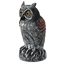 Fake Standing Owl Bird Hunting Shooting Decoy Deterrent For Home Garden Decor