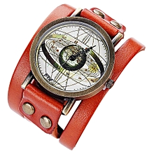 guoaivo CCQ Personality Dial Casual Analog Quartz Bracelet Watch  -Orange